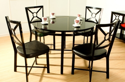 Park Avenue 5 pc Glass Dining Set