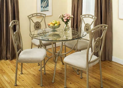 Sutton 5 Piece Glass Dining Set