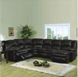 Top Quality Corner Recliner Sofa In Leather