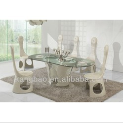 fashion trendy design glass dining table