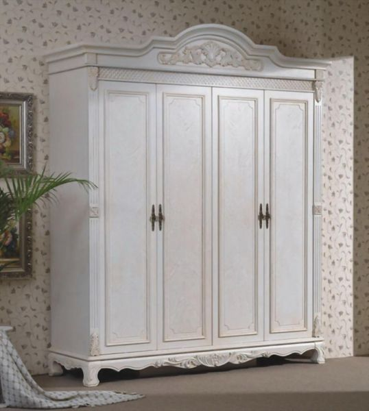 Wardrobe closet wood white