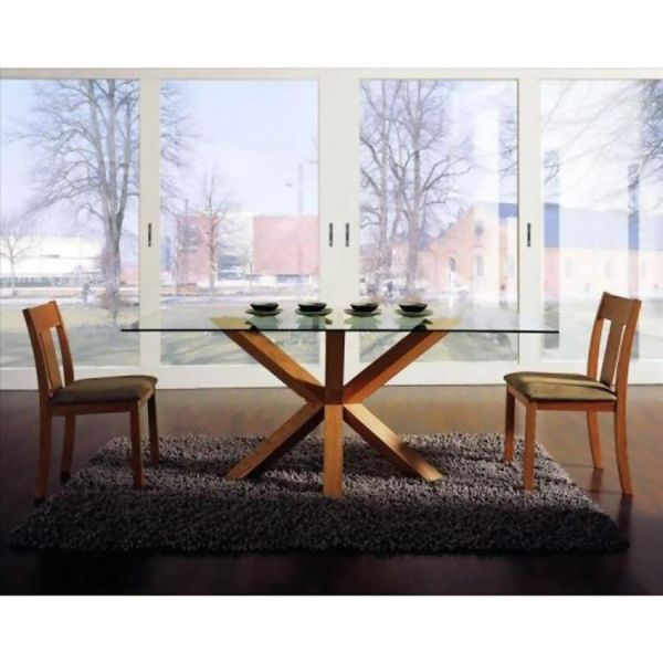 Glass Top Rectangular Dining Room Tables