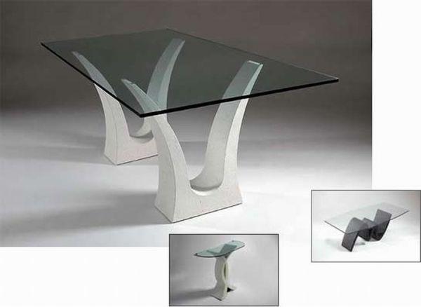 Beautiful Rectangular Glass Dining Room Table Looks Elegant