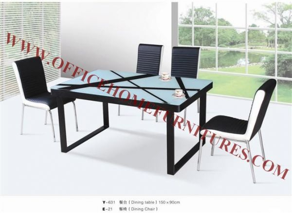 Metal Glass Dining Table